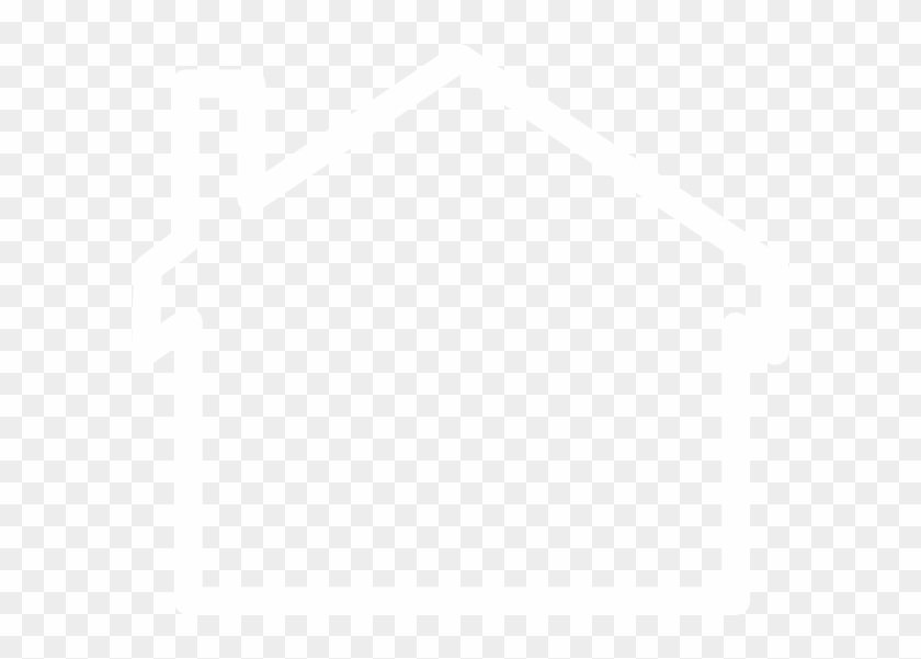 White Outline Of A House #171155