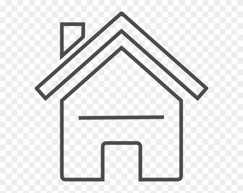 Grey House Clip Art - Modern Clip Art House #171156