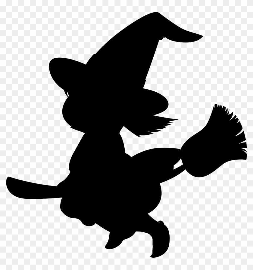 Halloween Clipart Shadow - Silueta De Brujas Para Halloween #171159