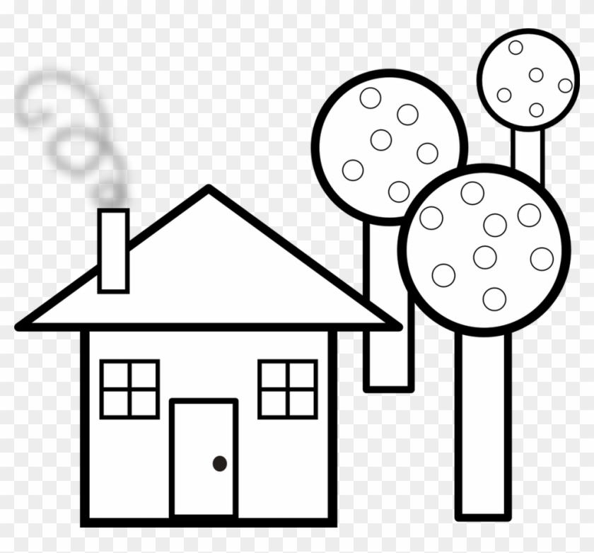 Home Decor Large-size Clip Art Houses Cliparts Co Haunted - Shapes House Black And White #171162