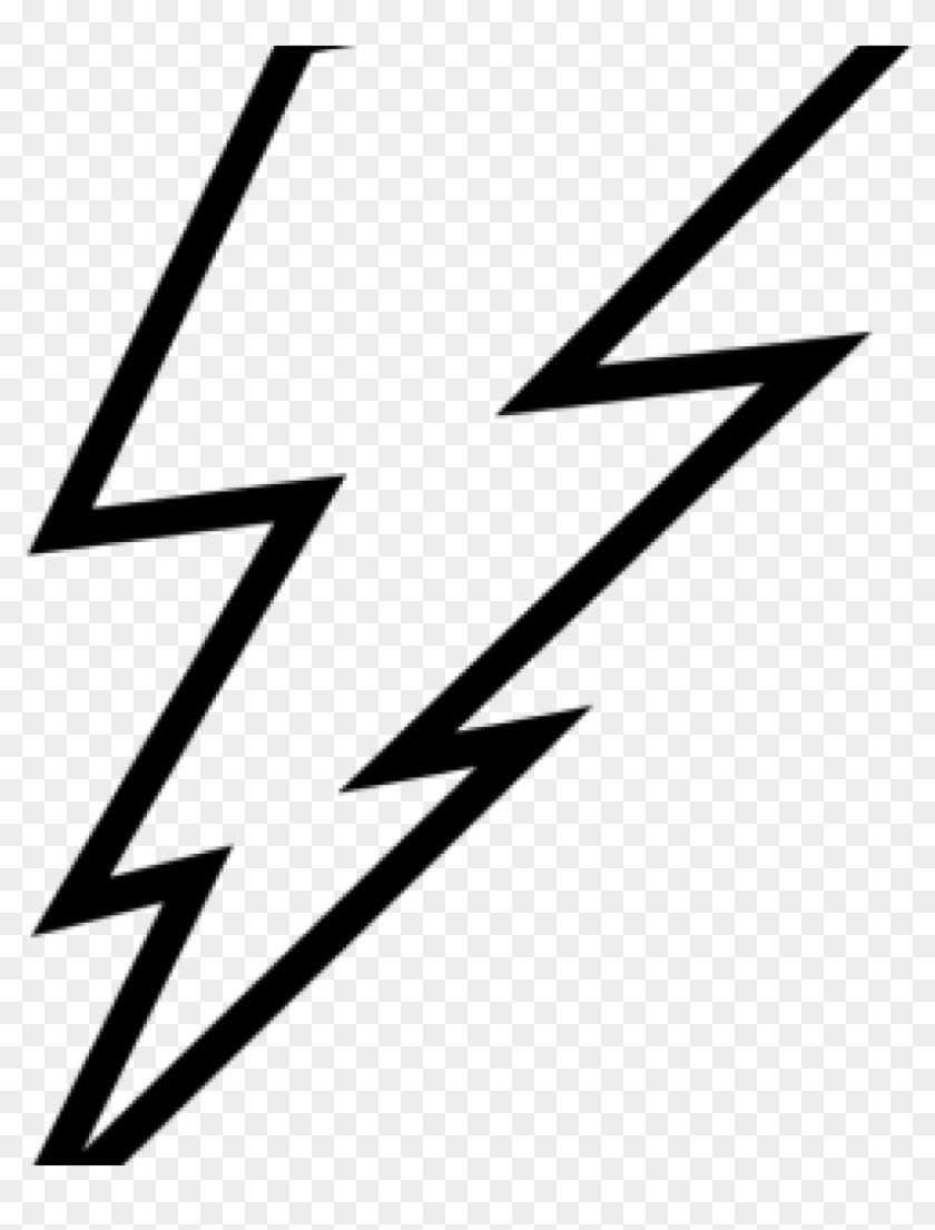 Outline Clipart Lightning Bolt Outline Clip Art Lightning - Black And White Lightning Clipart #171171