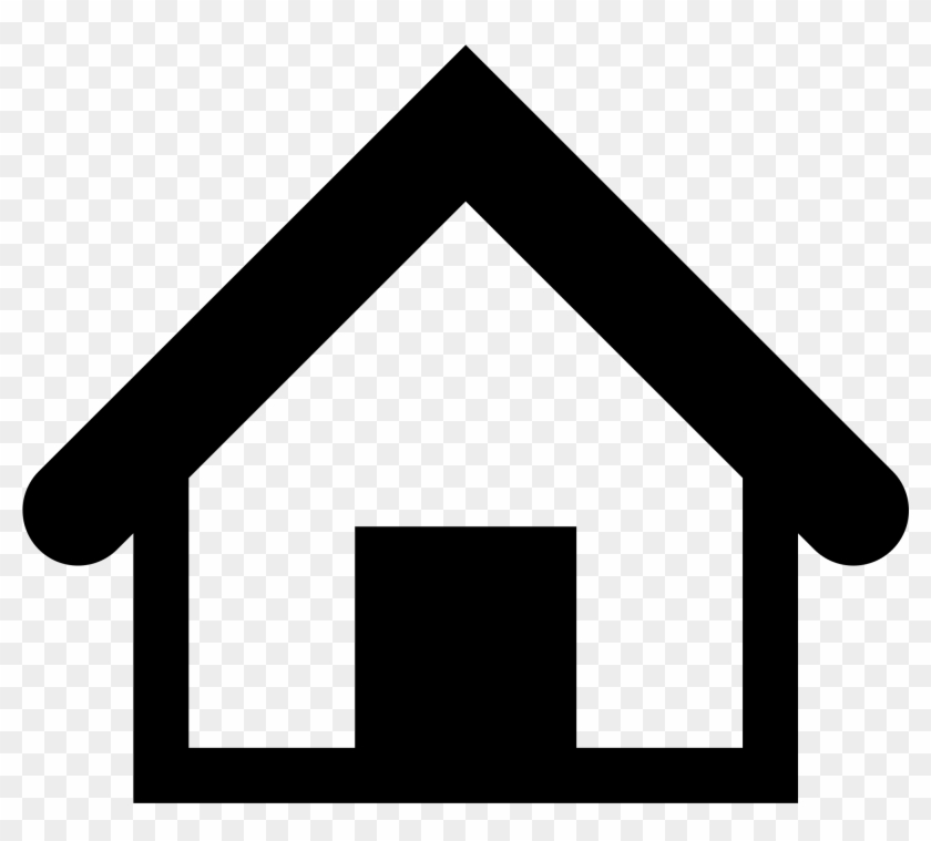 Filesimpleicons Places Home Outline With Black Door - 512px #171174