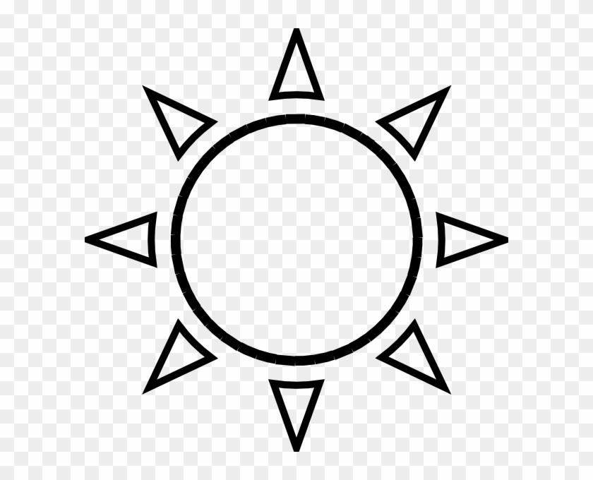 Sun Rising Clip Art Black And White - Sun Black And White #171185