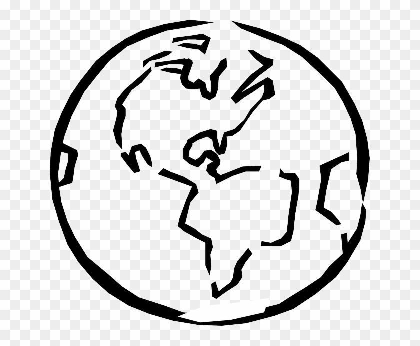 Globe Black And White Outline - Earth Clipart Black And White #171186