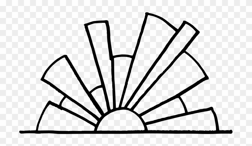 Sunset Clipart Outline - Sunset Clipart Black And White #171192
