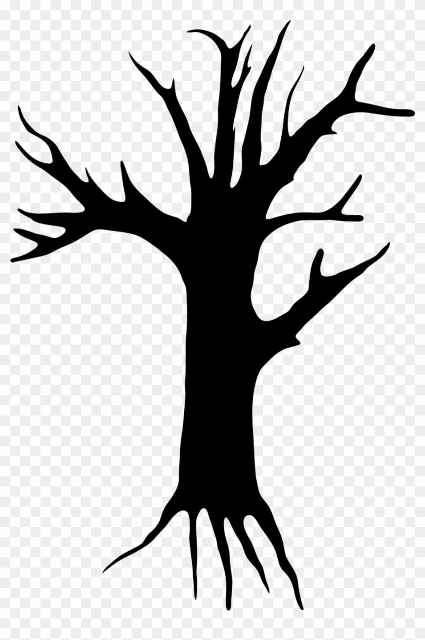 Creepy Clip Art - Creepy Tree Clipart #171202