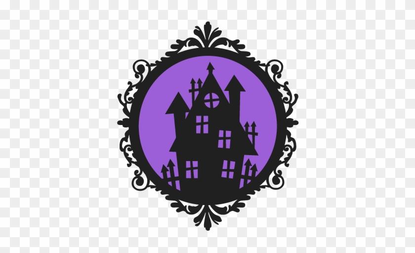 Haunted House Frame Svg Scrapbook Cut File Cute Clipart - Silhouette #171210