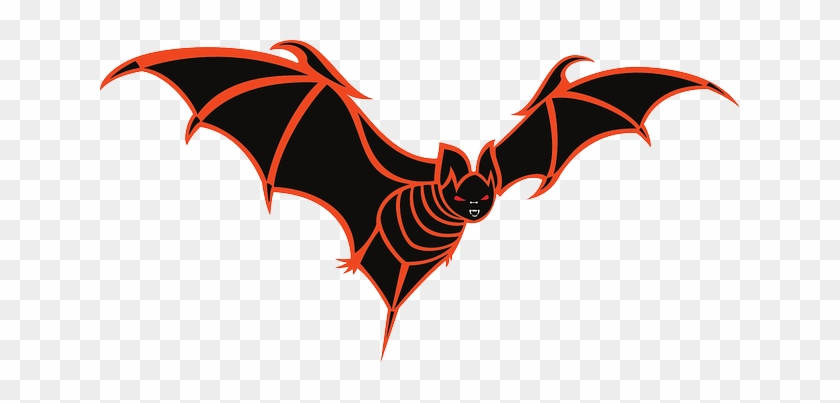 Spread, Fly, Wings, Art, Halloween, Vampire, Scary - Halloween Scary Bats #171213