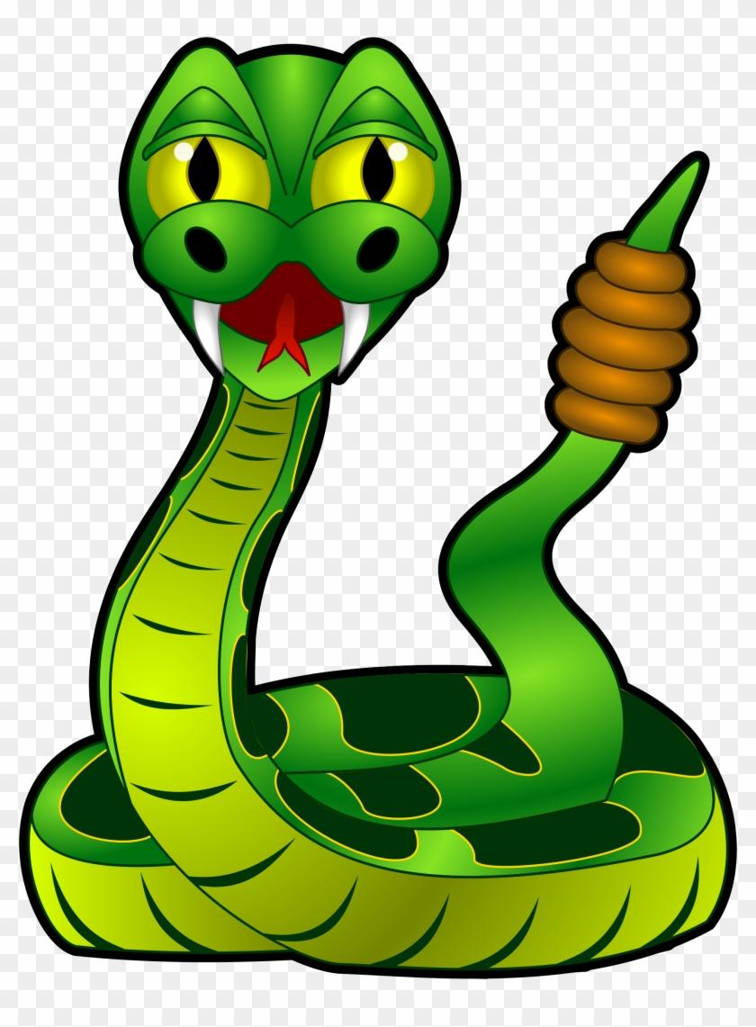 Serpent Clipart Rainforest Animal - Rattlesnake Cartoon #171226
