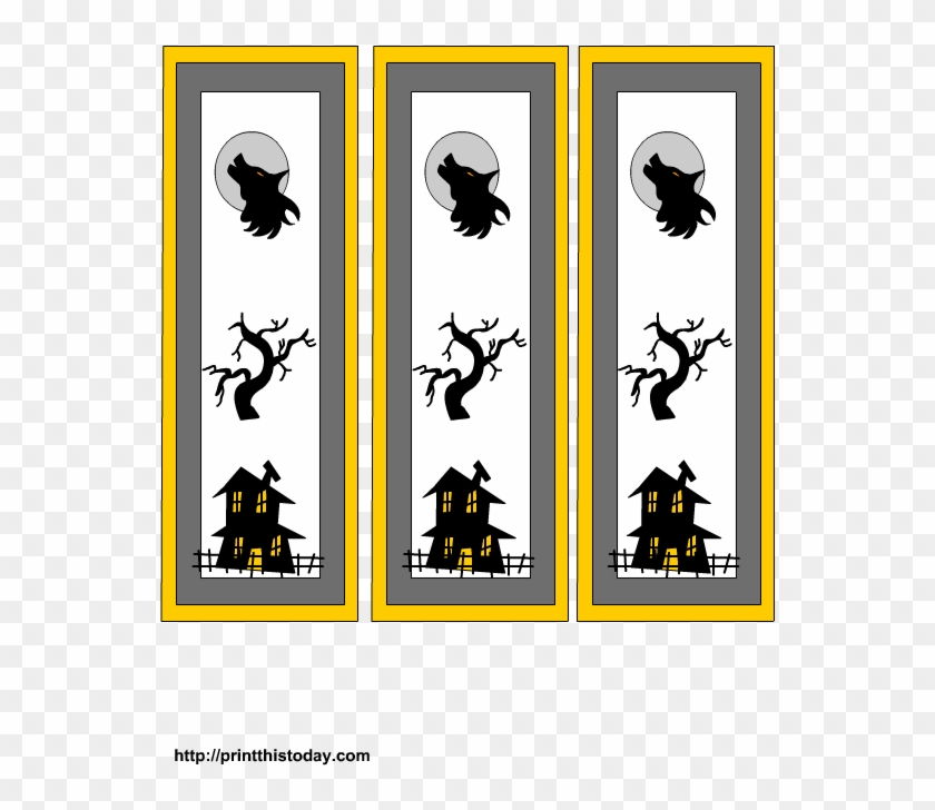 image about Free Printable Halloween Clipart named Cost-free Printable Halloween Bookmarks - Cartoon - Absolutely free