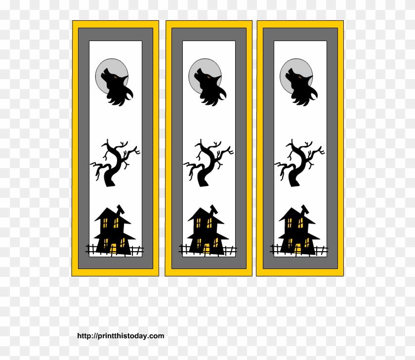 Free Printable Halloween Bookmarks - Cartoon #171229