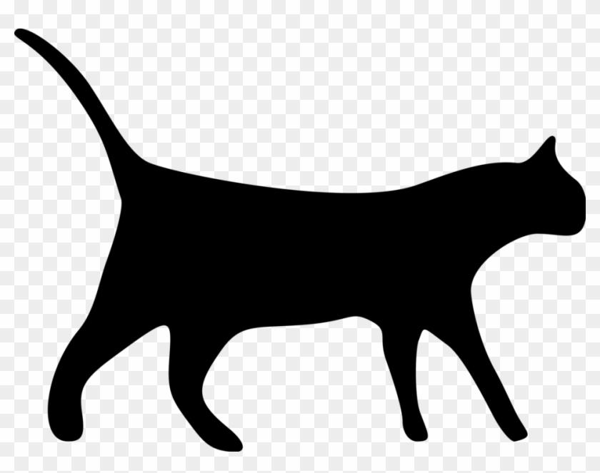Clipart Cat Transparent Black Pencil And In Color - Cat Silhouette Clip Art #171233
