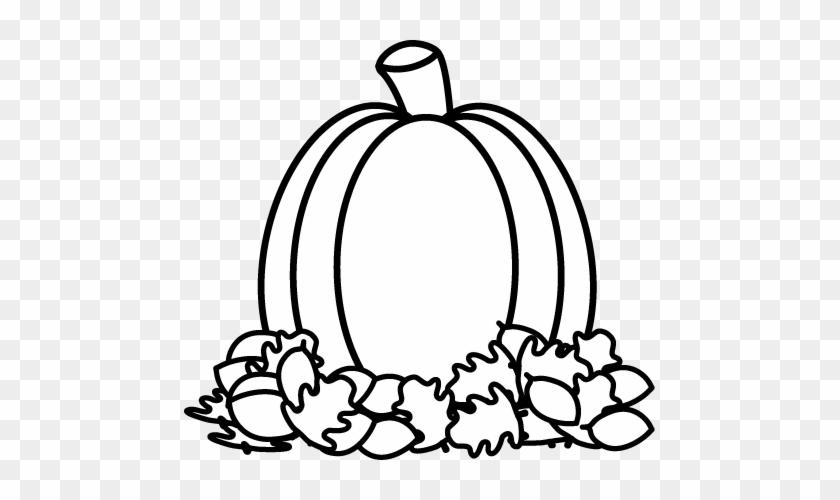 Pumpkin Black And White Black And White Pumpkin Clipart - Fall Clip Art Black And White #171239