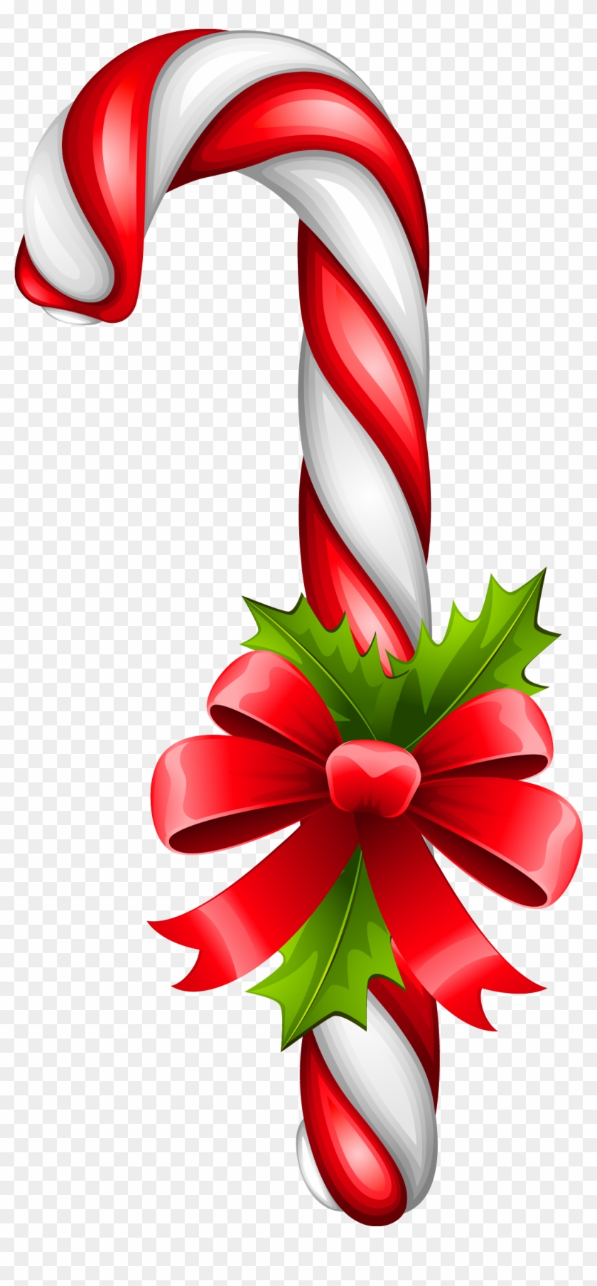 Christmas Candy Clipart - Candy Cane Transparent Background #171244