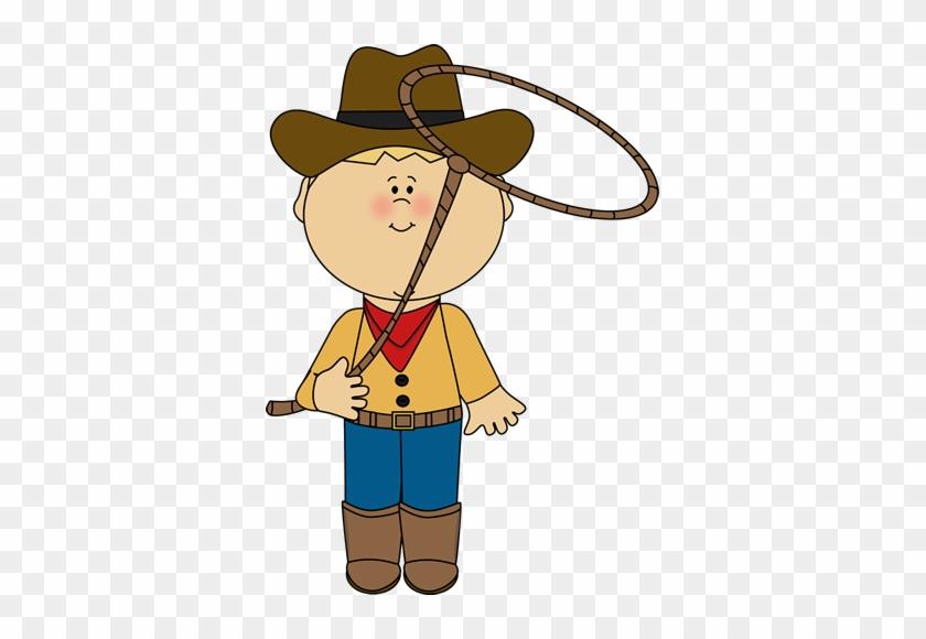 Cowboy With A Lasso - Cowboy Clipart #171247