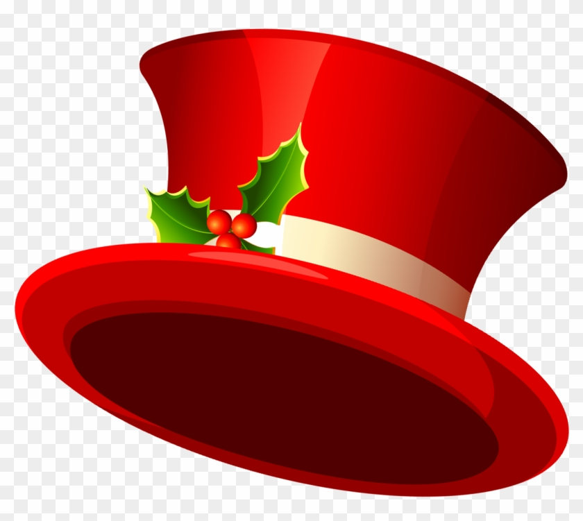 Christmas Clipart Hats - Christmas Top Hat Transparent #171254