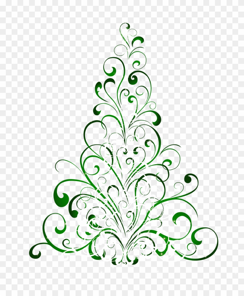 Transparent Green Christmas Tree Png Clipart - Christmas Tree Shower Curtain #171282