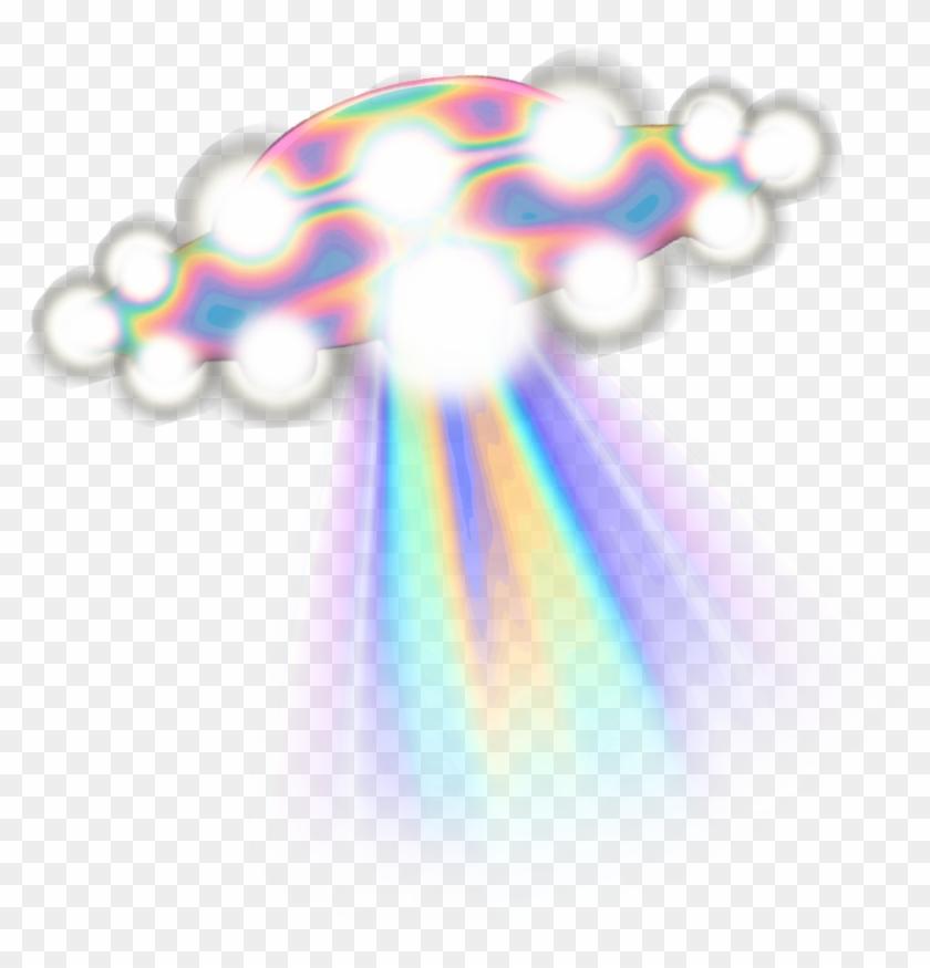 Ufo Spaceship Holo Holographic Tumblr Vaporwave Aesthet - Unidentified Flying Object #171356