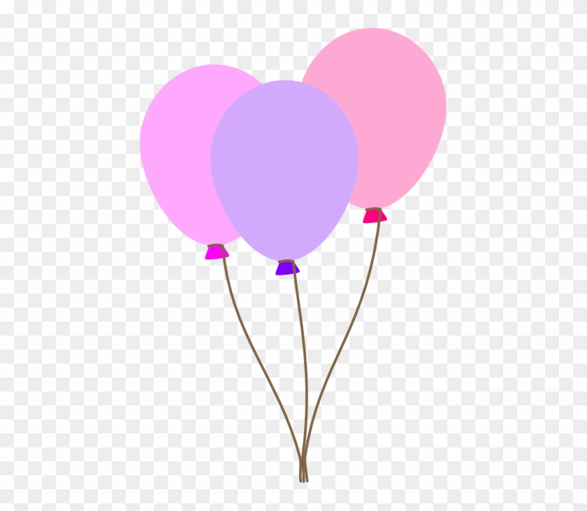 Pastel Balloon Bunch Clipart - Pink And Purple Balloons Clip Art #171368