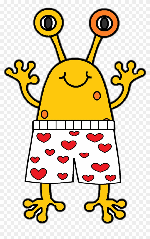 Alien Clipart Yellow - Aliens Love Underpants Characters #171377