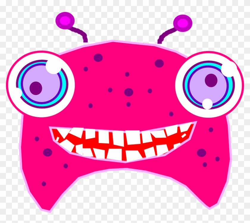 Alien Clipart Monster Face - Pink Alien Clipart #171396
