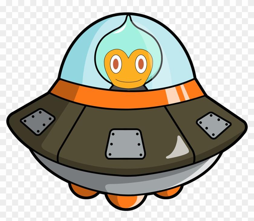 Bitcoinaliens Spaceship - Alien Spaceship Cartoon Png #171405