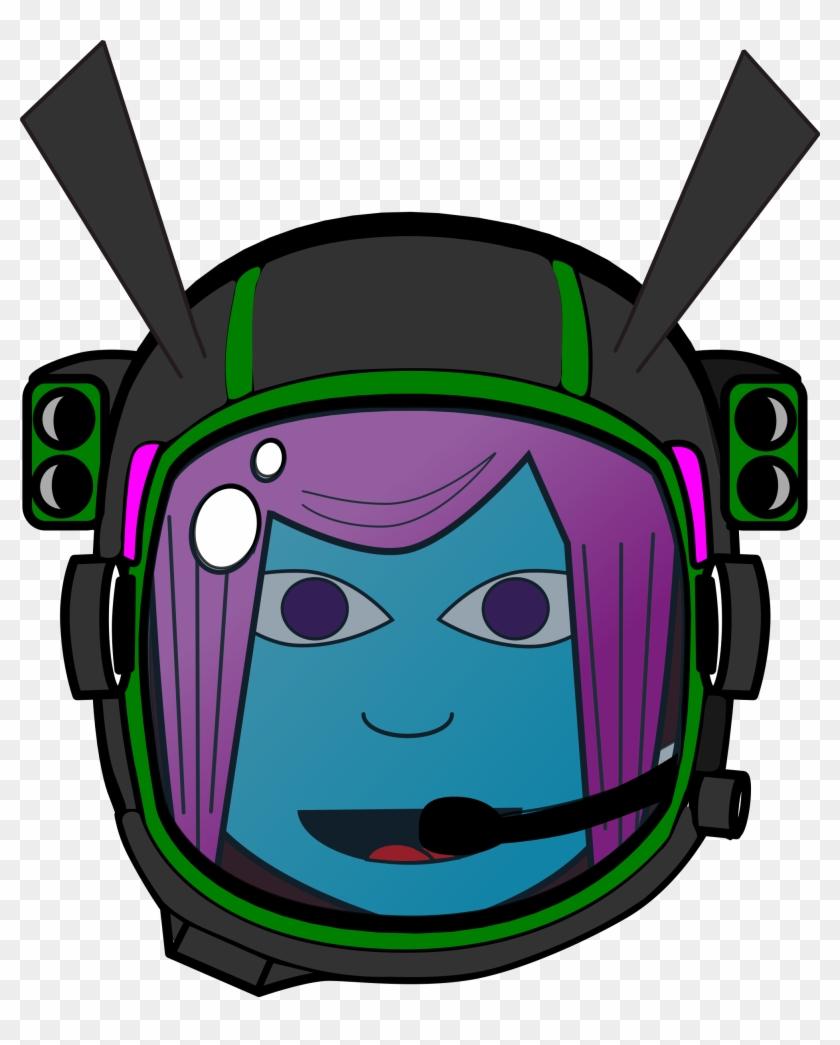 Spaceship Clipart Alien Head - Transparent Girl Alien Cartoon #171409