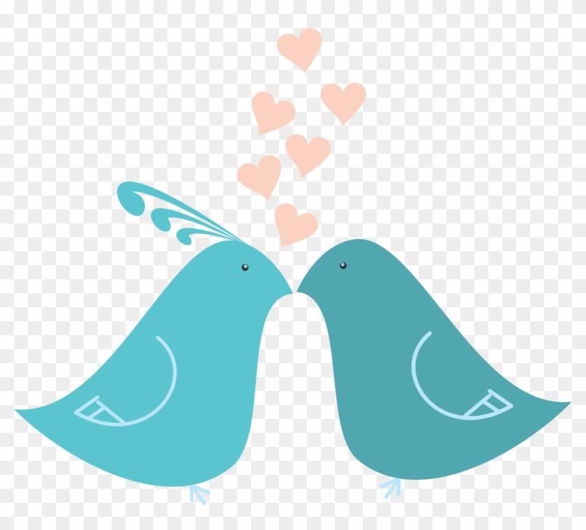 Download Love Birds Free Png - Cute Lovebirds Twin Duvet #171411