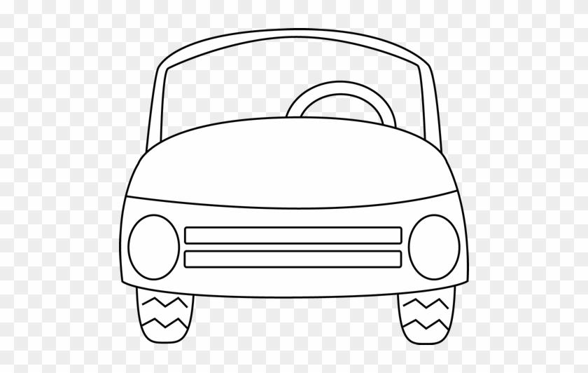 Car - Clipart - Black - And - White - Car Outline White #171471