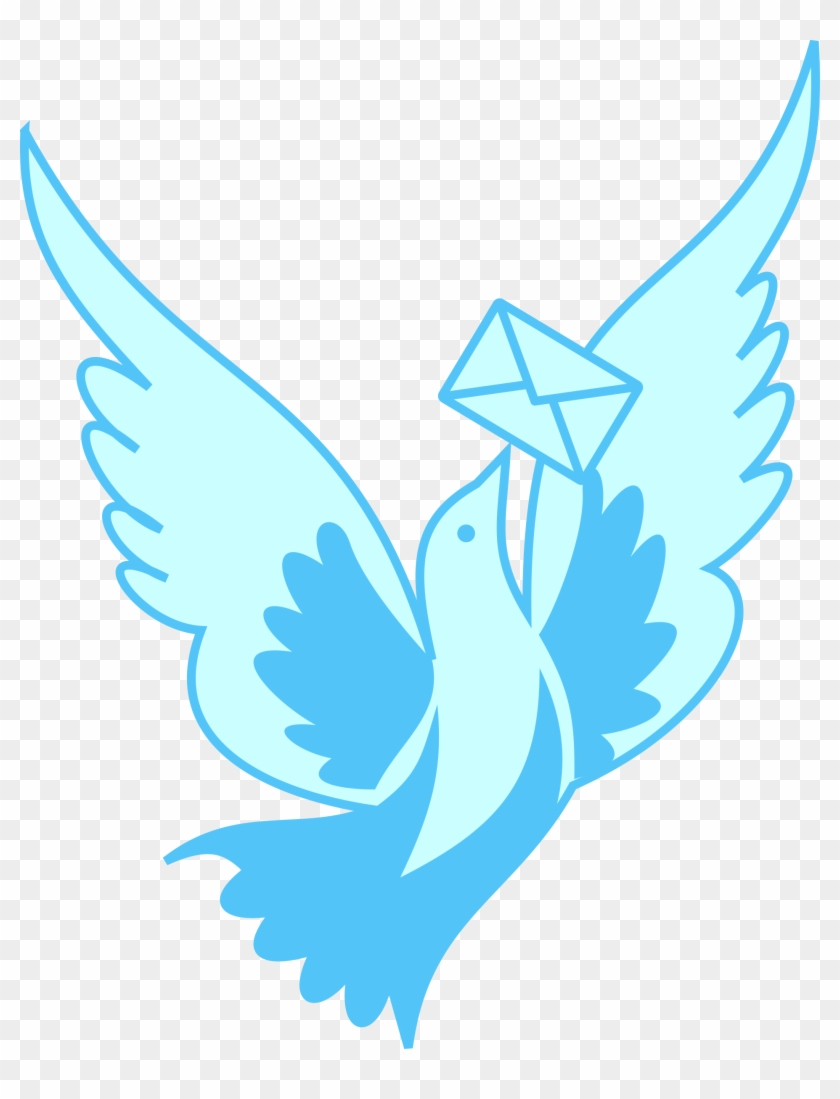 A Flying Pigeon Delivering A Message Svg Vector File, - A Flying Pigeon Delivering A Message Svg Vector File, #171488