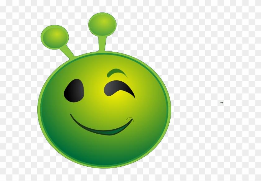Alien Emoji Winking Clip Art At Clker - Wink #171503