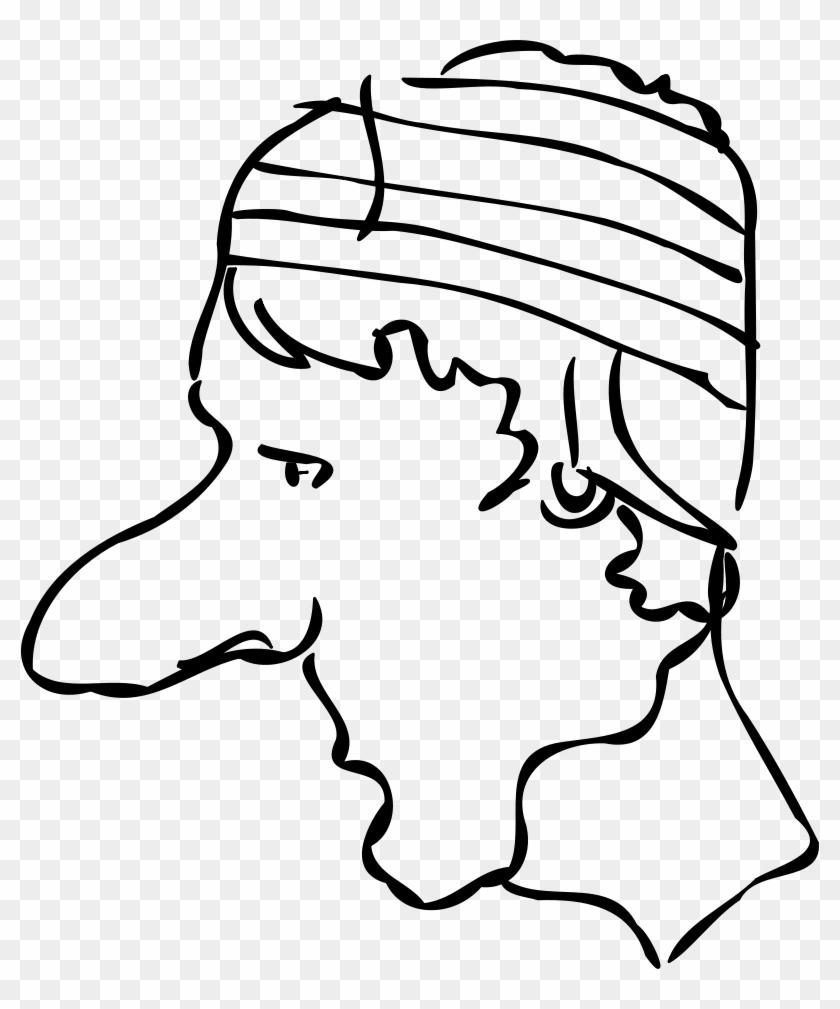 Bandaged Head Clipart, Vector Clip Art Online, Royalty - Bandaged Head In Art #171508
