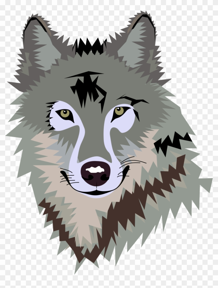 Grey Wolf Clip Art - Wolf Face Clipart #171529