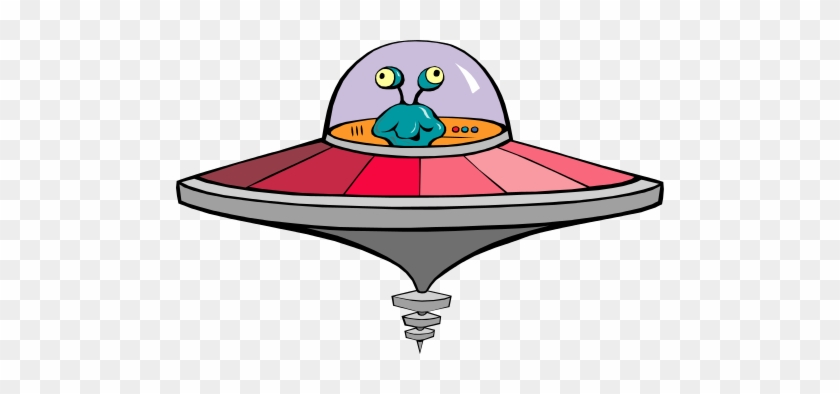 Free To Use Public Domain Flying Saucer Clip Art - Alien In Flying Saucer #171558