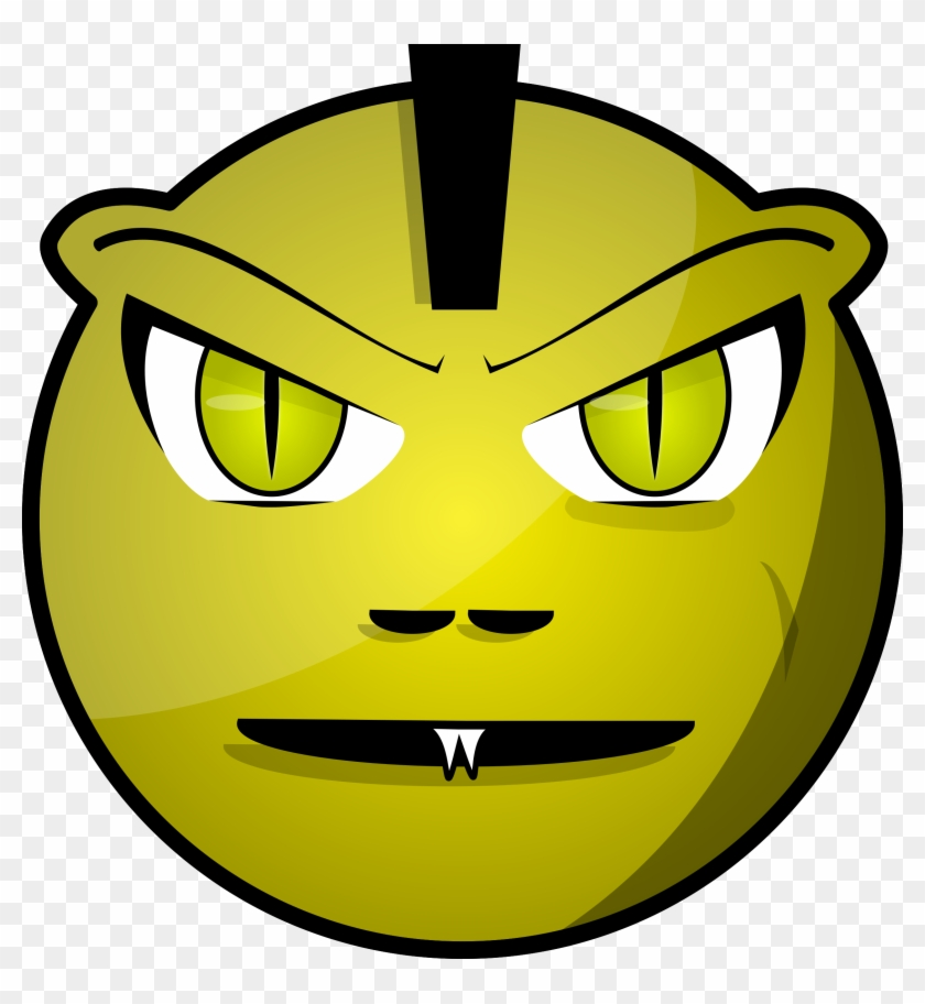 Scared Faces Clip Art - Spooky Monster Face Cartoon #171570