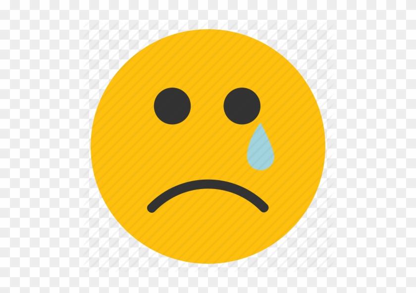 Crying Emoticons Sad Face Smiley Tear Icon Sad Face With Tear