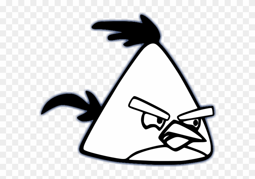Yellow Bird Angry Birds Characters Black And White - Angry Birds Coloring Pages #171590