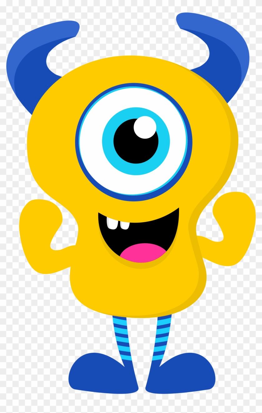 Free Cute Monster Clip Art - Monster Clipart Png #171644