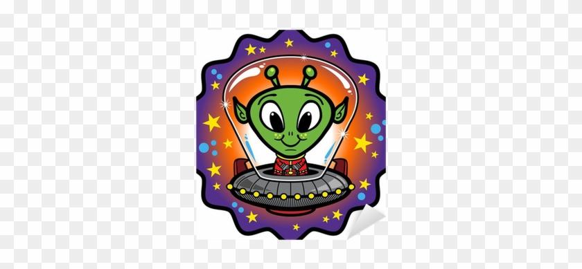 Cartoon Alien In Ufo #171650