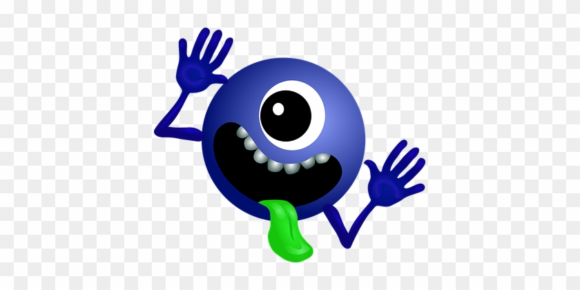 Alien Dark Blue Smiley Monster Cartoon Cha - Hitchhiker's Guide To The Galaxy #171732