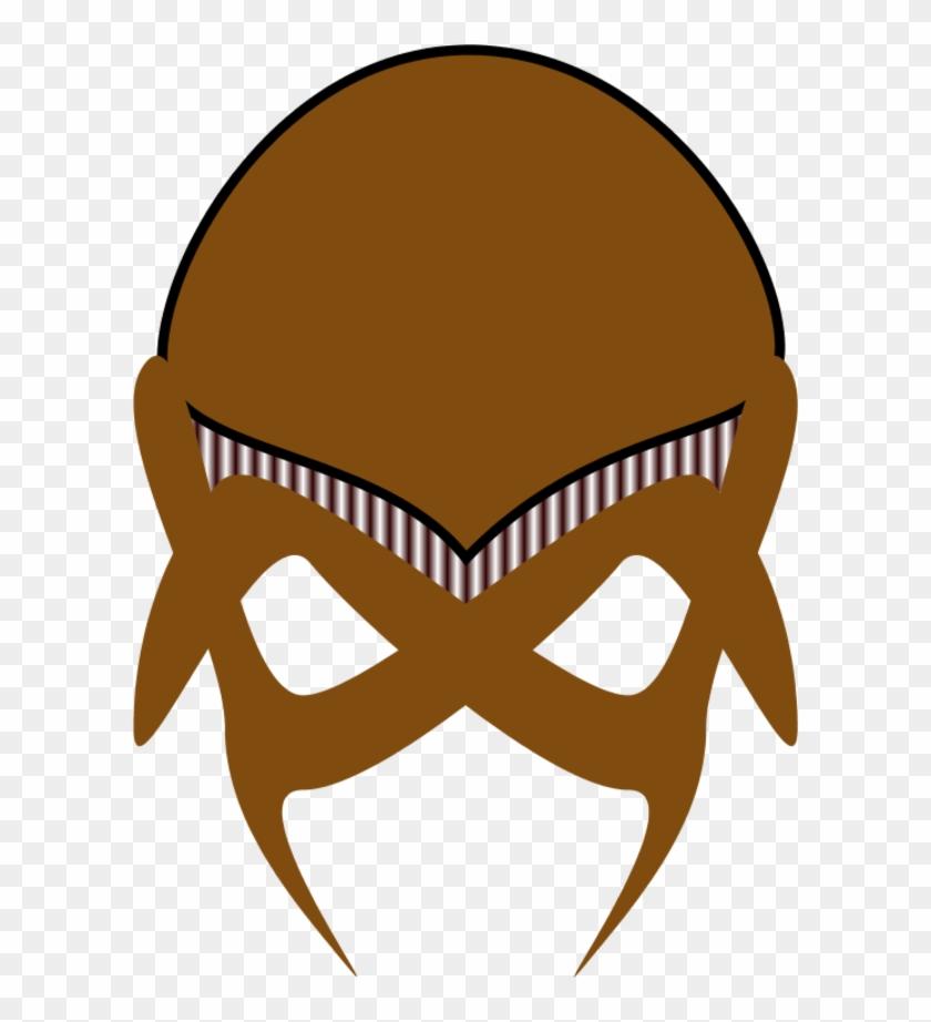 Alien Clipart Brown - Alien Mask Template #171738