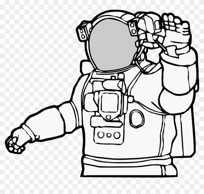 Astronaut Cosmonaut Space Spaceman Astrona - Spaceman Clipart #171741