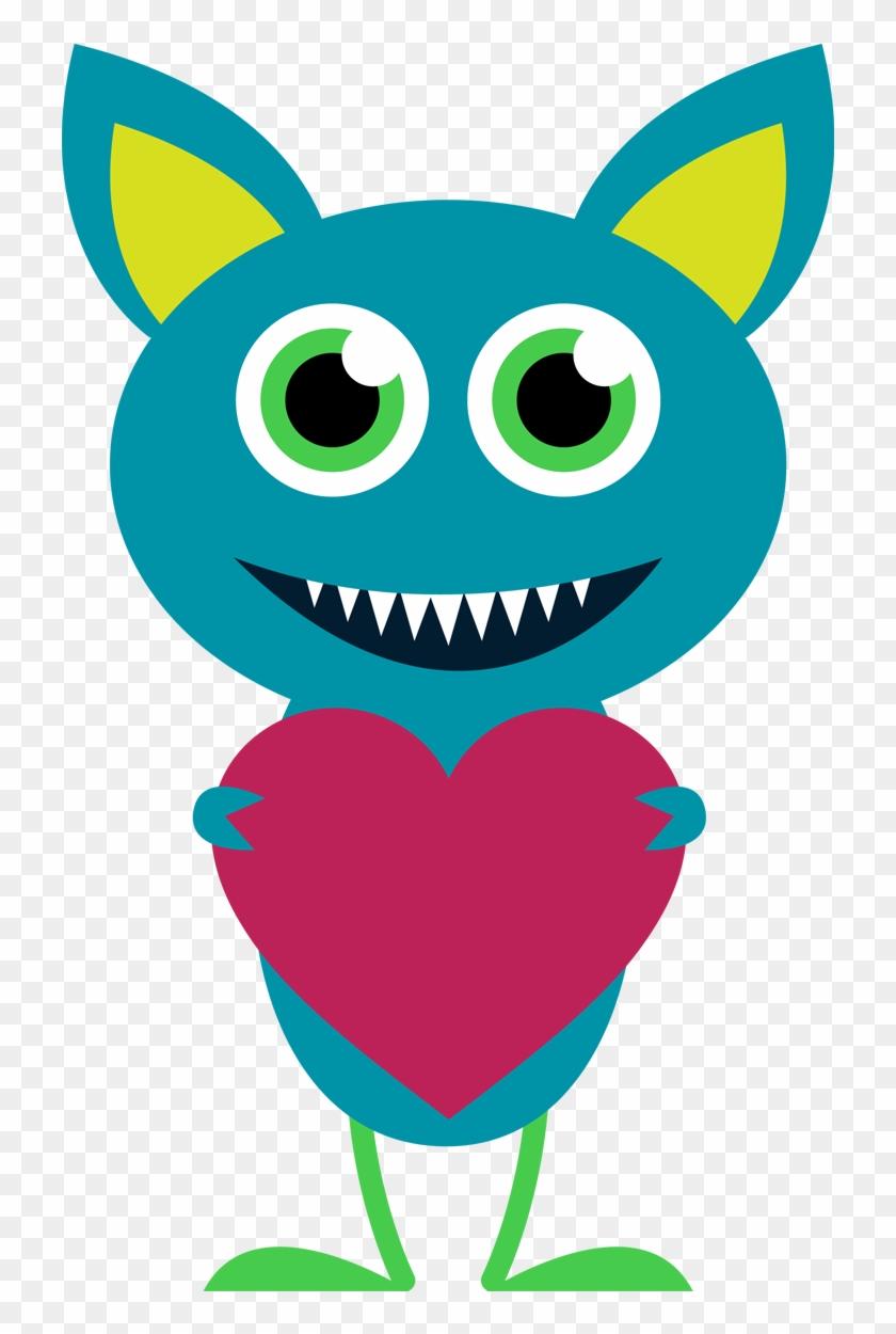 Monster Clipart - Valentine's Day Clipart Monster #171745