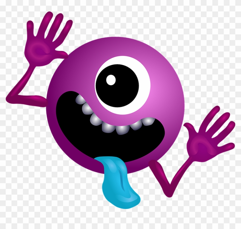 Alien Purple Smiley Monster Cartoon Charac - Hitchhiker's Guide To The Galaxy Planet #171746