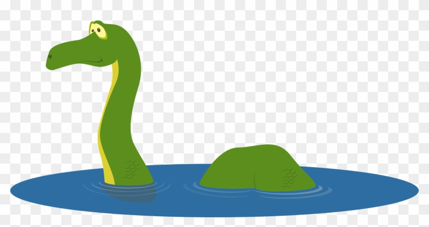 Loch Ness Monster Cartoon Cute Icon Loch N - Transparent Loch Ness Monster Clipart #171810