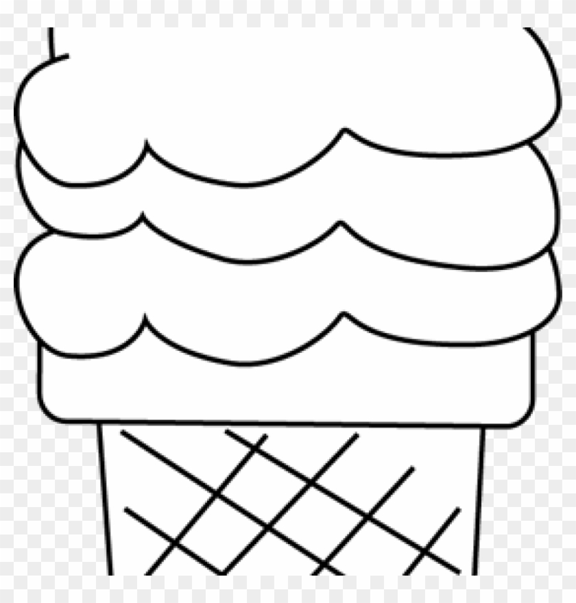 Ice Cream Clipart Black And White Black And White Ice - Clip Art #171826