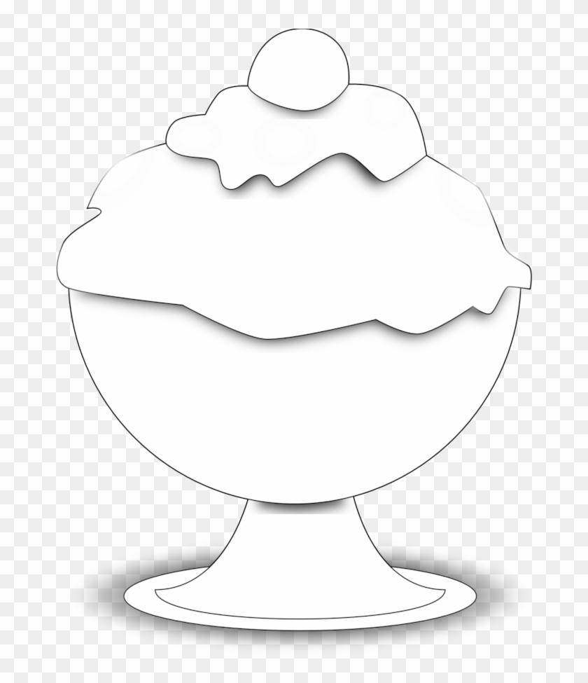 Ice Cream Black And White Ice Cream Clipart Black And - Clip Art #171831