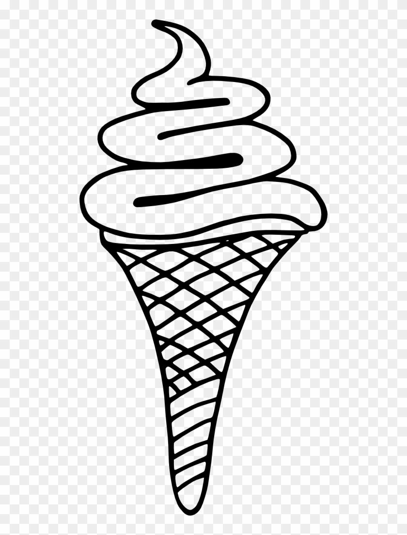 Ice-cream Free Glace 5 Free Glace Italienne Bw - Ice Cream Cone #171839