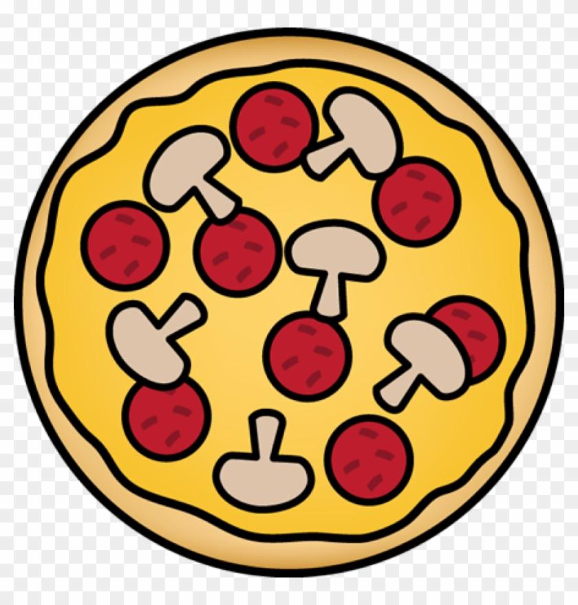 Pizza Clip Art - Pepperoni And Mushroom Pizza Clipart #171871