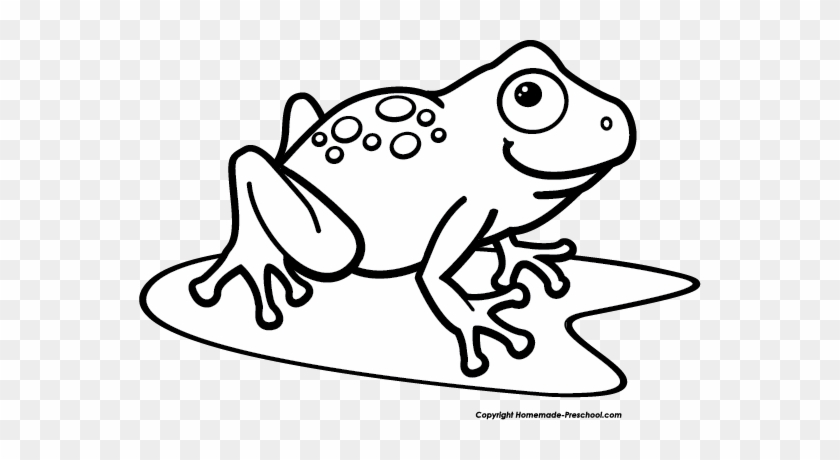 Frog Black And White Frogs Clip Art Waving Frog Vector - Frog Clipart Black And White #171894